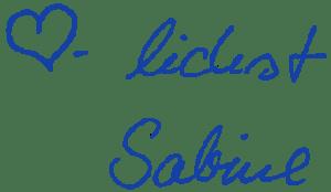 Herzlichst Sabine